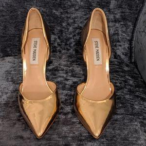 Steve Madden shiny gold heels
